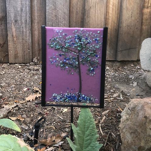Blooming Blue Garden Stake