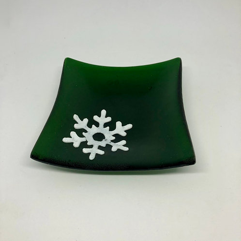 Green SnowflakePlate