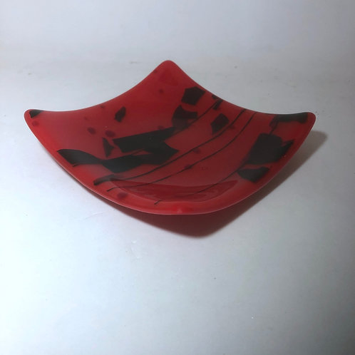 Abstract Red Plate
