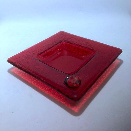 Red Ladybug Dish