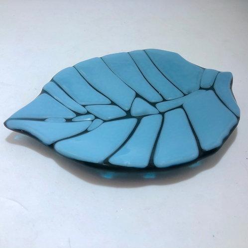 Small Blue Leaf Dish
