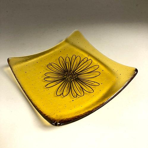 Golden Flower Small Plate