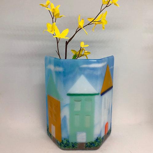 Beach Houses Art Vase