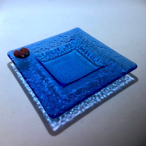 Sky Blue Ladybug Dish