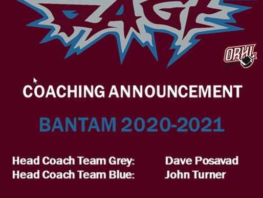 RAGE Bantam Coaching Announcement