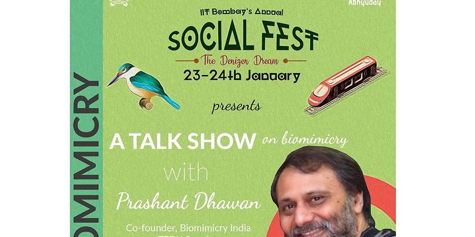 A Biomimicry talk show at Abhyuday (Social Fest) at IIT Bombay. Registeration link : https://event.webinarjam.com/regist
