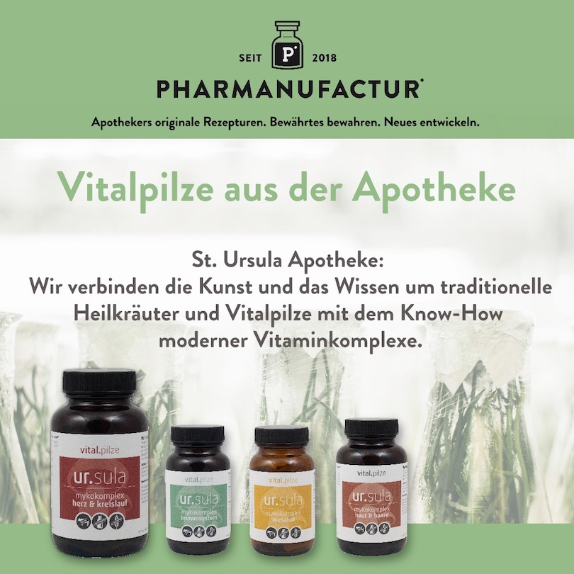 Pharmanufactur Vitalpilze Anzeige