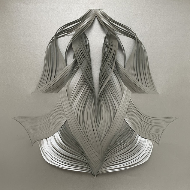 Serie organicidad metálica, plata 03