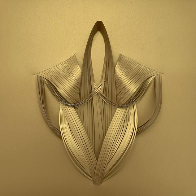 Serie organicidad metálica, oro 03
