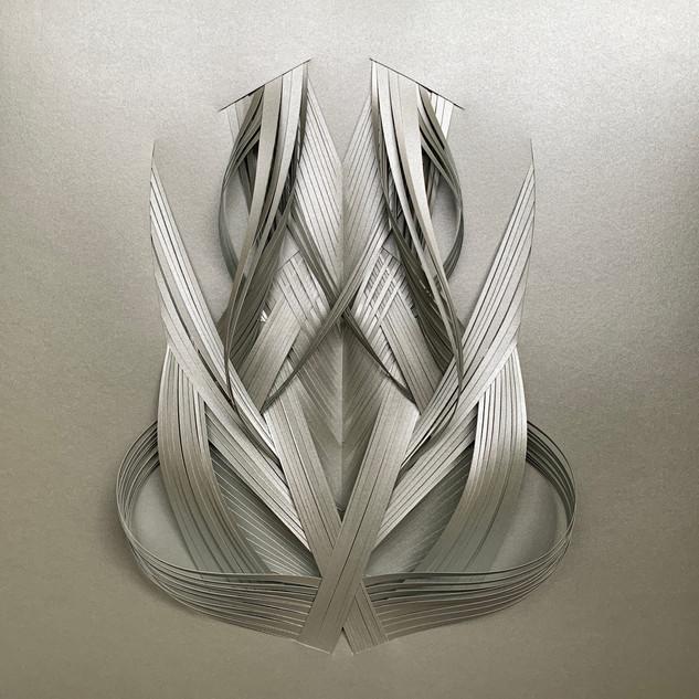 Serie organicidad metálica, plata 07