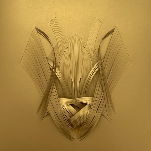 Serie organicidad metálica, oro 01