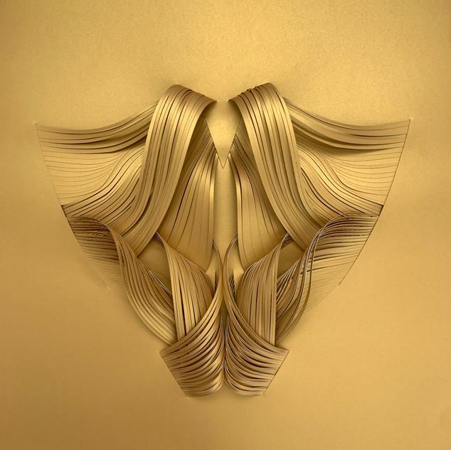 Serie organicidad metálica, oro 07