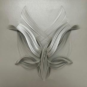 Serie organicidad metálica, plata 06