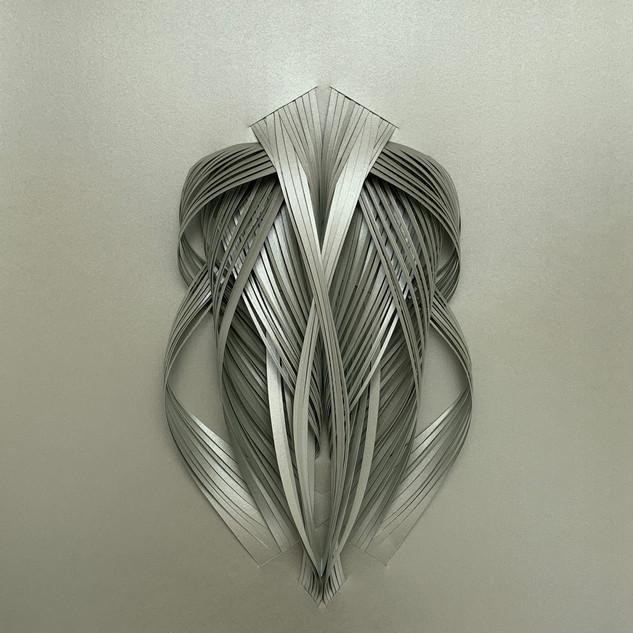 Serie organicidad metálica, plata 09