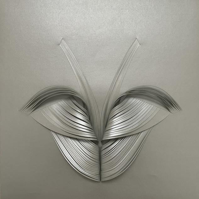 Serie organicidad metálica, plata 04
