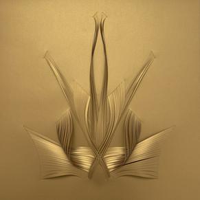 Serie organicidad metálica, oro 02