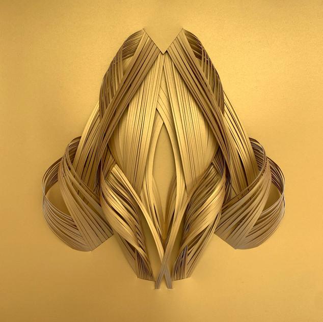 Serie organicidad metálica, oro 08