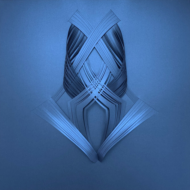 Serie organicidad metálica, azul 03