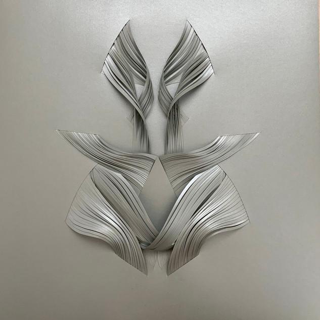 Serie organicidad metálica, plata 01