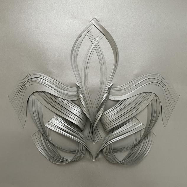 Serie organicidad metálica, plata 05