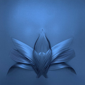 Serie organicidad metálica, azul 02