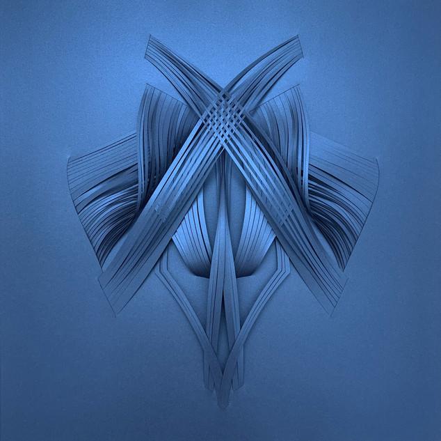Serie organicidad metálica, azul 01