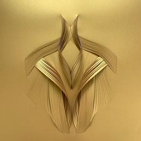 Serie organicidad metálica, oro 06