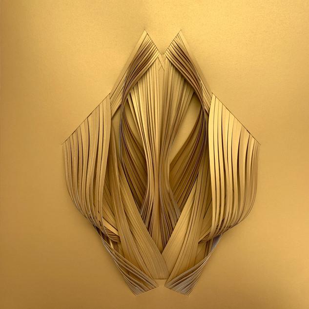 Serie organicidad metálica, oro 09