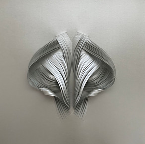 Serie organicidad metálica, plata 02