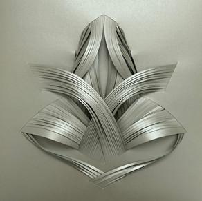 Serie organicidad metálica, plata 08