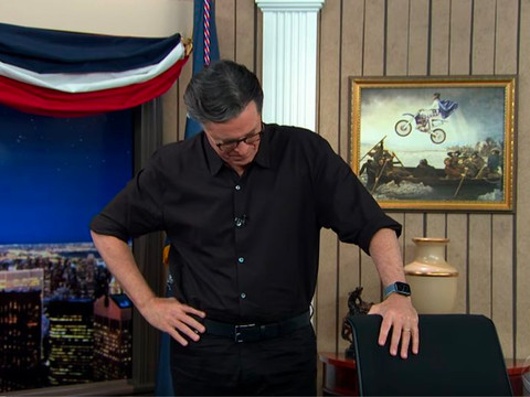 Stephen Colbert Fake-Cries After Trump Stands Strong