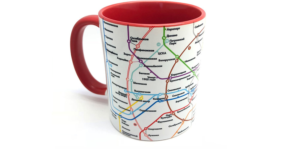 """Кружка """"Схема метро"""", красная"""