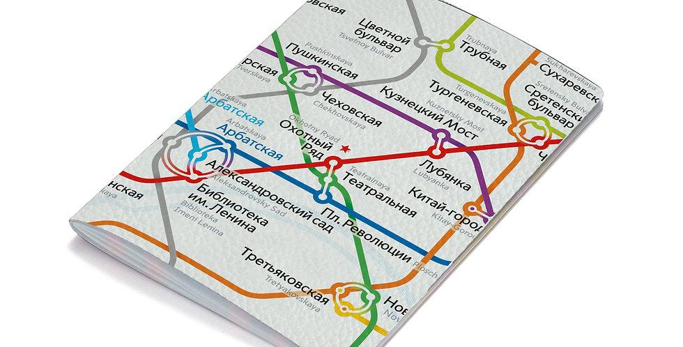 """Обложка на паспорт """"Схема метро"""""""