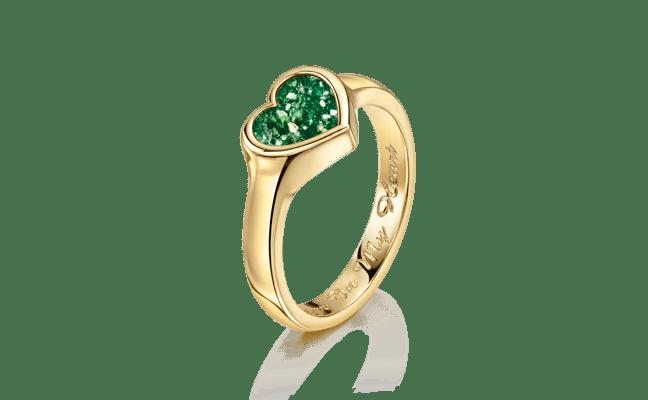 Heart Gold Green