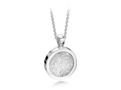 Round Pendant Silver Clear