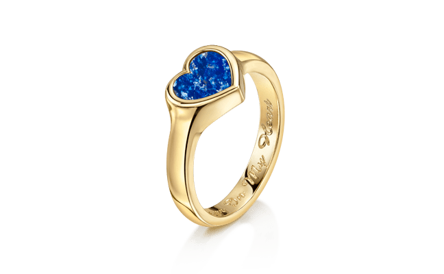 Heart Gold Blue
