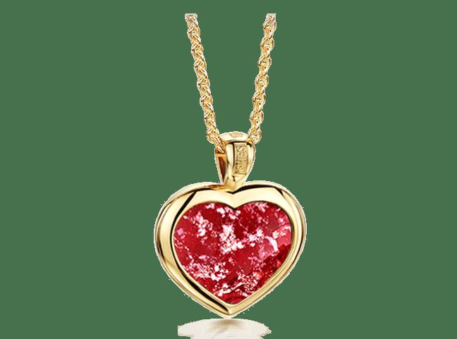 Heart Pendant Gold Ruby