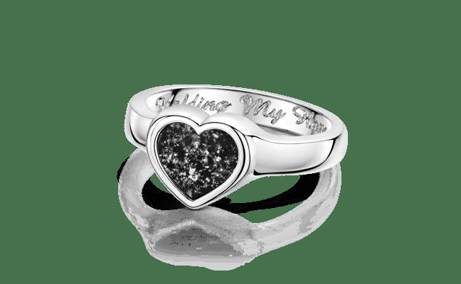Heart Silver Black