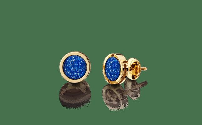 Earring Gold Blue