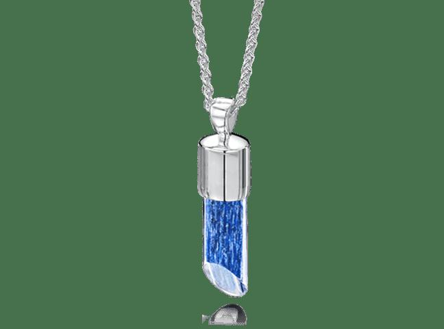 Long Pendant Silver Blue