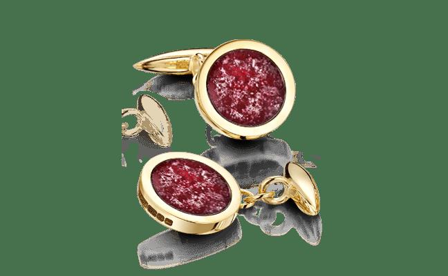 Cufflink Gold Ruby