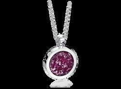 Round Pendant Silver Purple