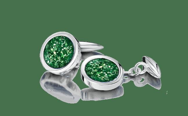 Cufflink Silver Green
