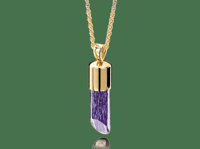 Long Pendant Gold Purple