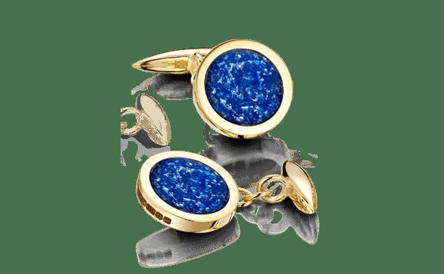 Cufflink Gold Blue