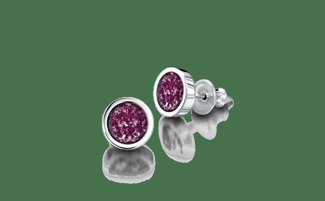 Earring Silver Purple