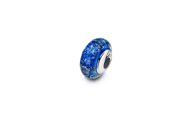 Charm Bead White Gold Blue