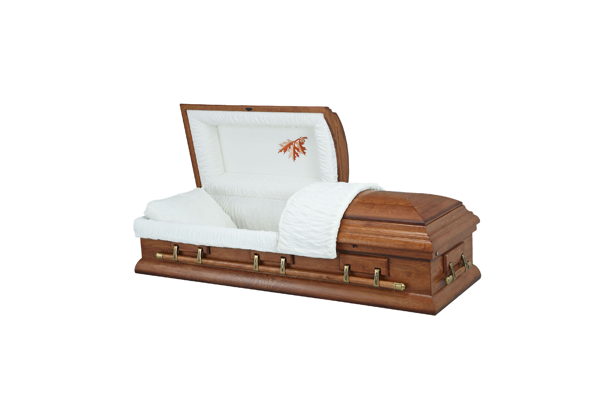 Harvest Oak Coffin