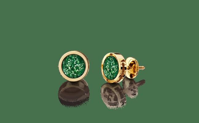 Earring Gold Green