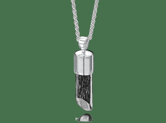 Long Pendant Silver Black